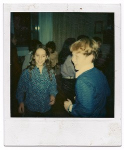 Blue Polaroid